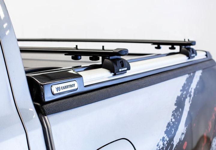 Base Rack and Crossbars for Roller Lid