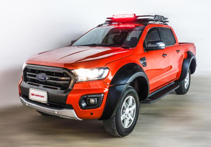 Light Bar Mount for Roof Rack — Pickup Truck